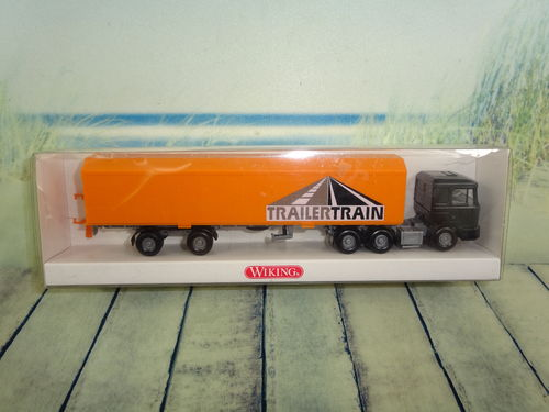 "Wiking MAN HU-PAC-Sattelzug ""Trailertrain"" OVP"
